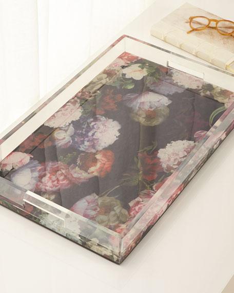 Dutch Floral Tray