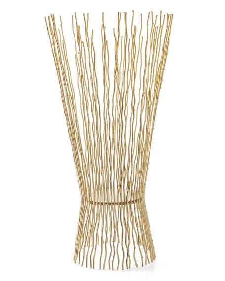 Small Metal Twig Candleholder