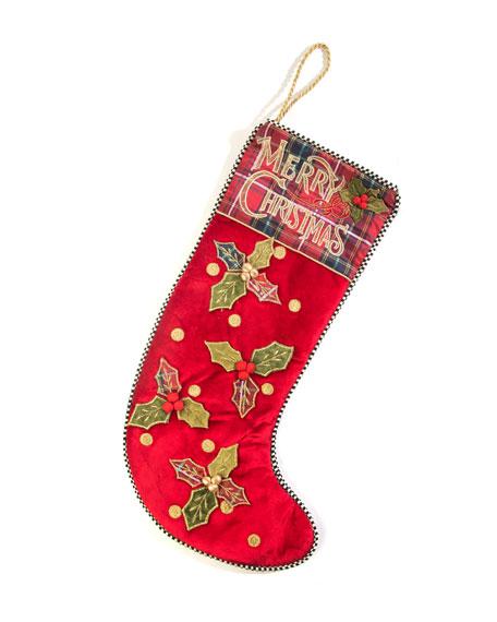 MacKenzie-Childs Merry Christmas Stocking