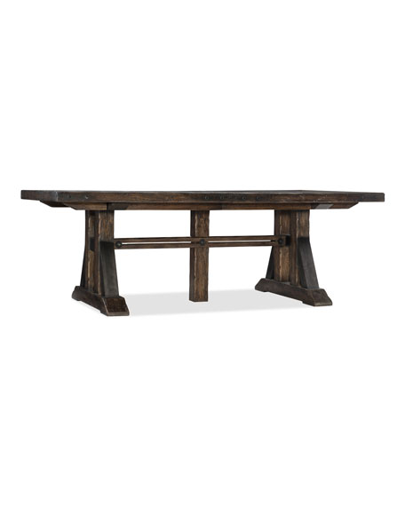 Hooker Furniture Dorianne Trestle Dining Table with 2 Leaves
