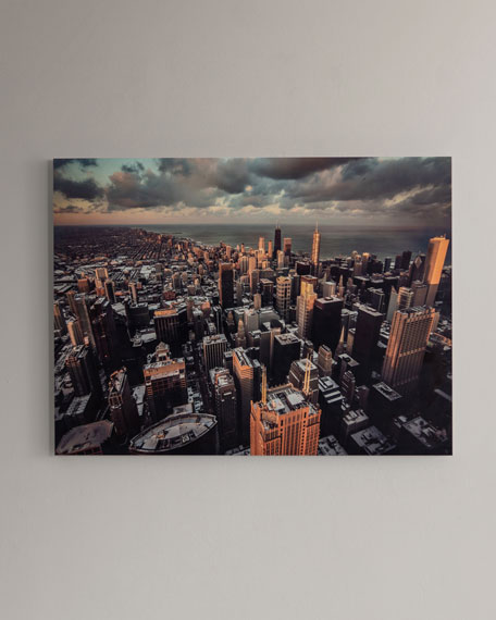 "Four Hands Art Studio ""Chicago"" Photography Print Handmade HD Metal & Acrylic Art"