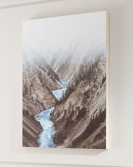 """Mountain River"" Photography Print on Maple Box Art"