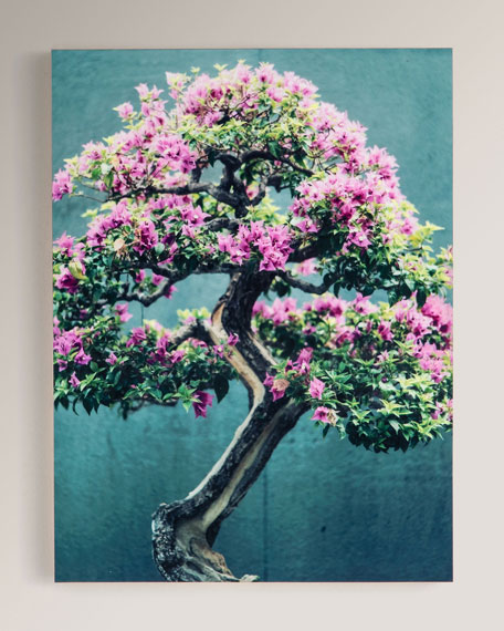 "Four Hands Art Studio ""Purple Tree"" Photography Print on Maple Box Framed Wall Art"