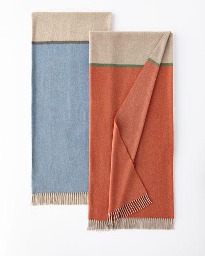 Bicolor Merino Wool-Cashmere Throw