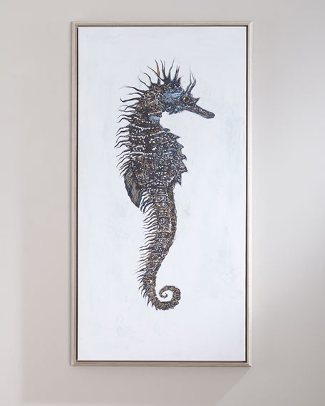"""Seahorse Study"" Left-Facing Canvas Art"