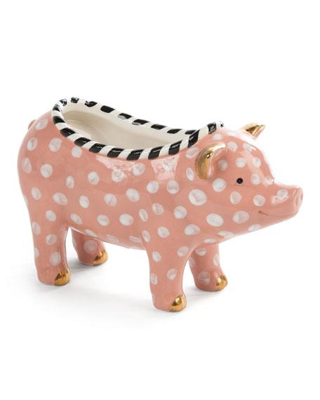 MacKenzie-Childs Polka Dot Pig