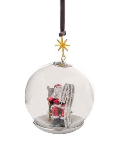 Santa Snow Globe Ornament