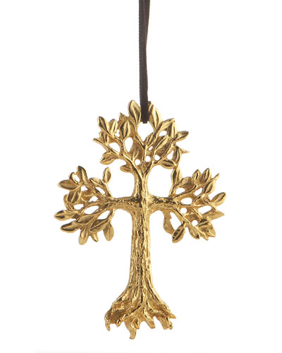 Leafy Cross Christmas Ornament