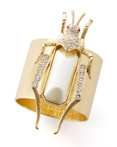 Joanna Buchanan Grasshopper Napkin Rings, Set of 2