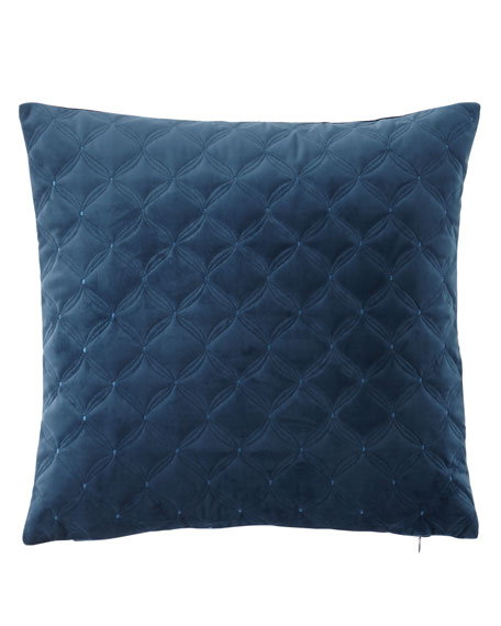 "Austin Horn Collection Leisure Embroidered Velvet Pillow, 20""Sq."