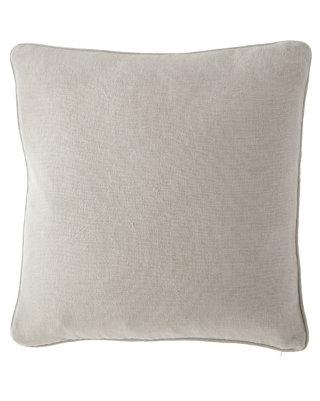 "Pine Cone Hill Stone Washed Linen Decorative Pillow, 20""Sq."