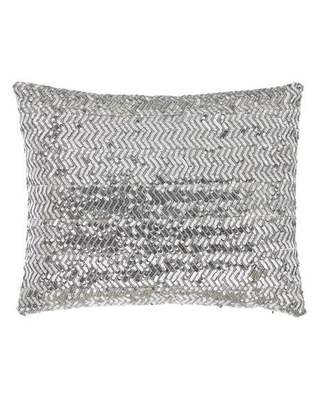 Sweet Dreams Bianca Silver Sequin Pillow