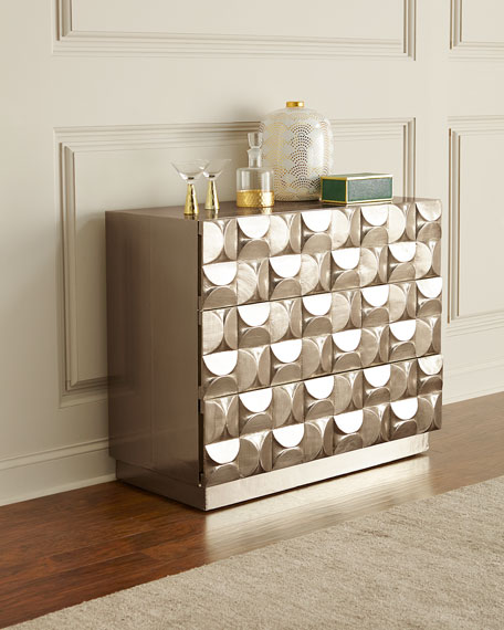 Bernhardt Ophelia Silver Clad 3-Drawer Chest