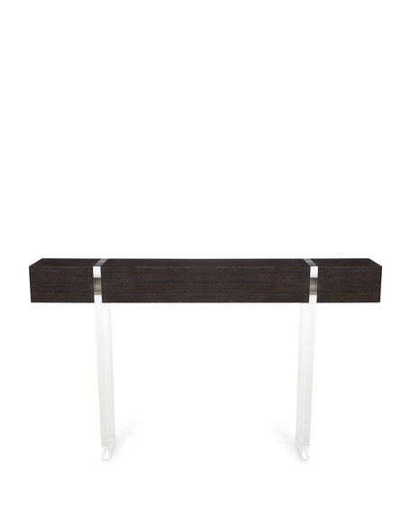 John-Richard Collection Parisienne Acrylic & Wood Console Table