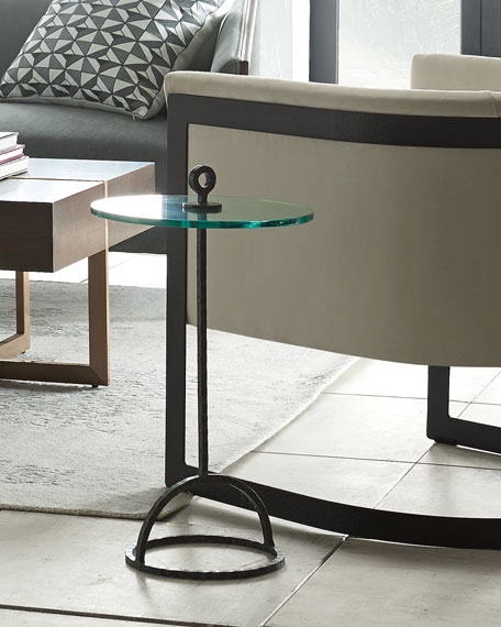Hayes Glass Top Side Table