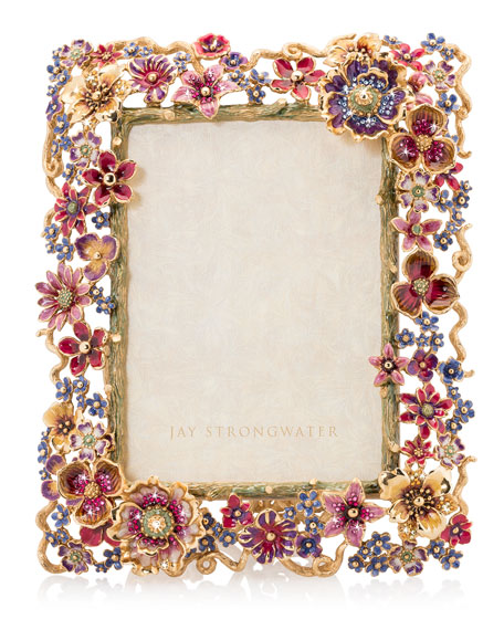 """Floral Cluster Picture Frame, 5"""" x 7"""""""