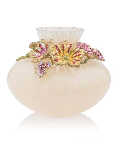 Jay Strongwater Flora Leaf and Flower Vase
