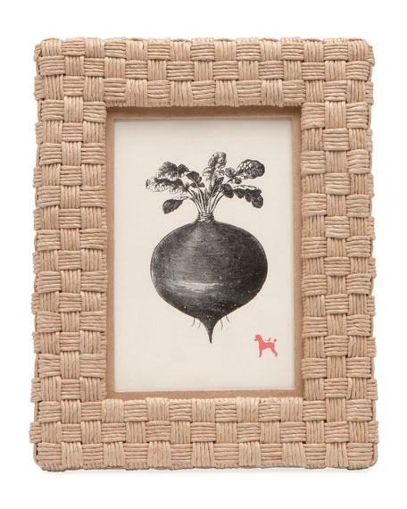 """Pigeon and Poodle Genova Natural Rope Picture Frame,  4"""" x 6"""""""