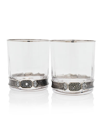 Double Old Fashioned Glasses  Set of 2