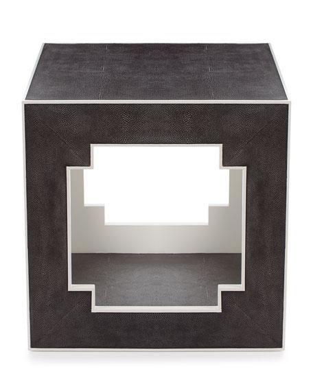 Macy Faux-Shagreen Side Table