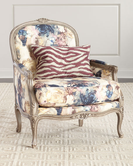 Massoud Windsor Floral Bergere Chair
