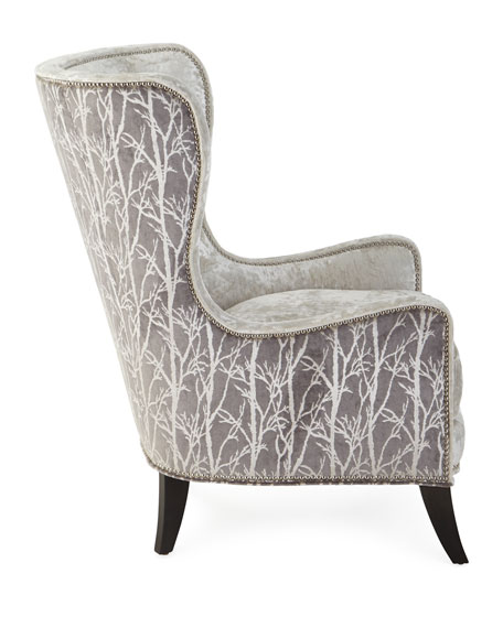 Massoud Shimmer Branch Wing Chair