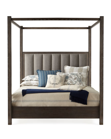 Hooker Furniture Liesel Tufted California King Canopy Bed