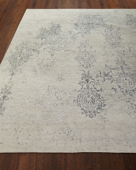 Minette Hand-Knotted Rug, 3.9' x 5.9' and Matching