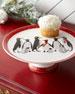 Sara Miller Sara Miller Red Penguins Holiday Footed Cake Plate