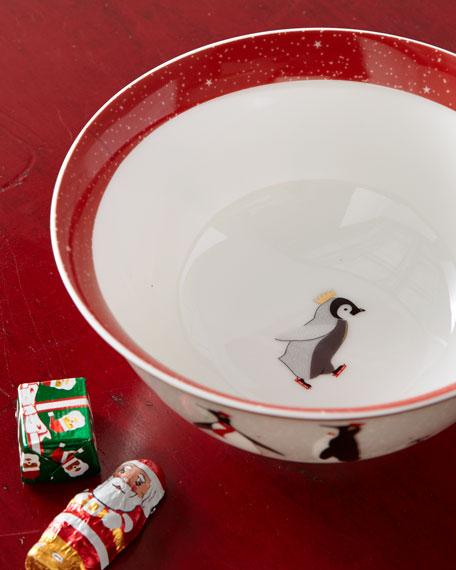 Sara Miller Sara Miller Red Penguins Holiday Bowls, Set of 4