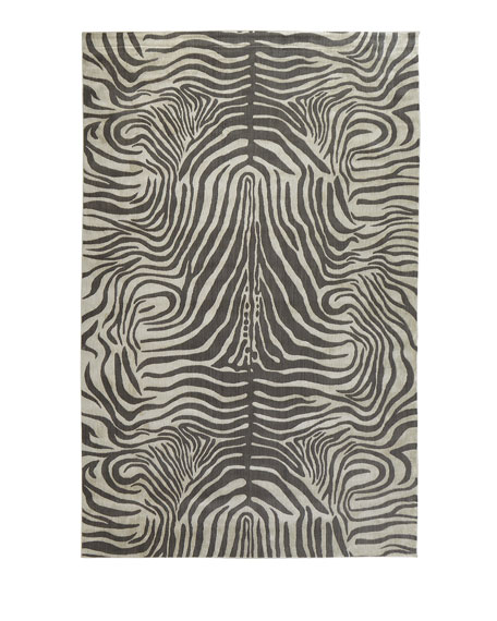 Dariya Power-Loomed Zebra Rug, 5.3' x 7.5'