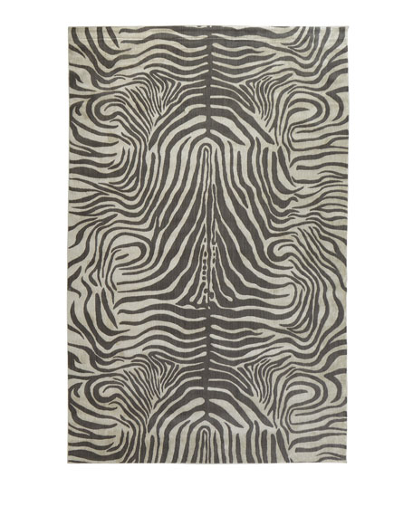 Dariya Power-Loomed Zebra Rug, 7.9' x 10'