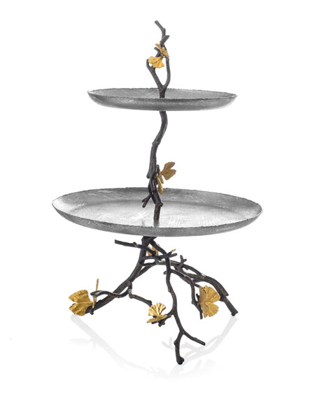 Michael Aram Butterfly Gingko 2-Tier Etagere