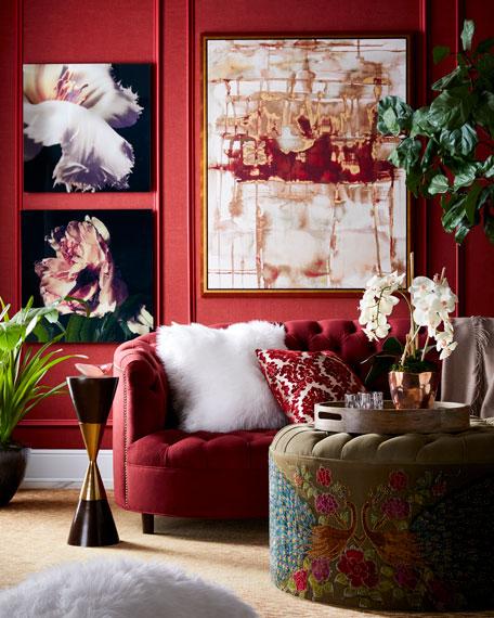 """Haute House Vaughn Berry Tufted Velvet Sofa 126"""""""