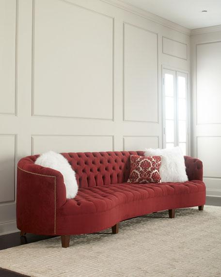 Vaughn Berry Tufted Velvet Sofa