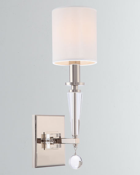 Paxton 1-Light Nickel Sconce