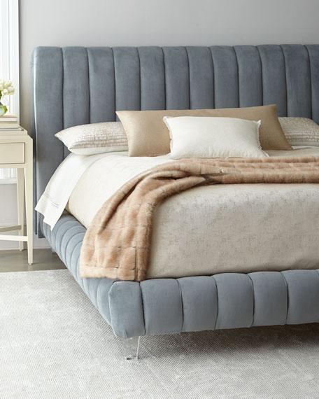 Amal Channel-Tufted King Platform Bed