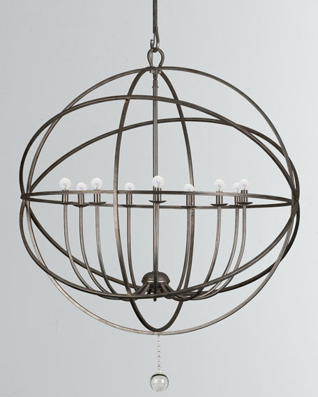 Solaris 9-Light Sphere Chandelier