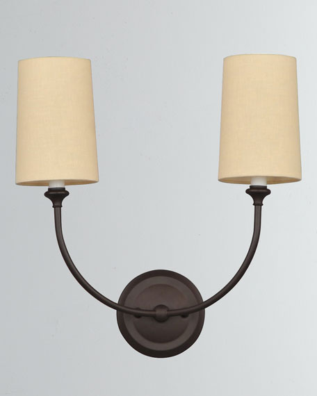 Sylvan 2-Light Dark Bronze Sconce