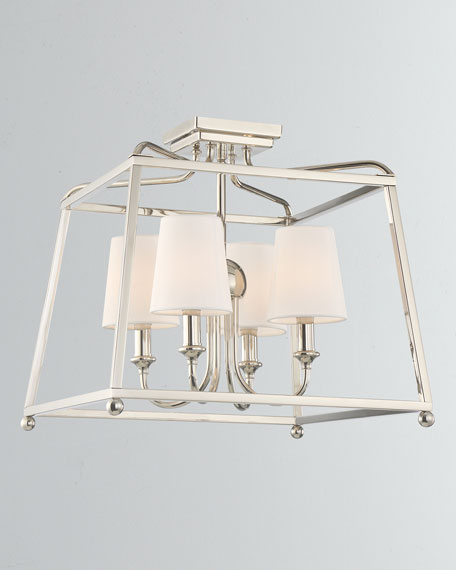 Sylvan 4-Light Polished Nickel Ceiling Mount