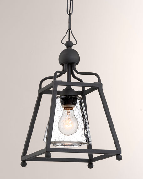 Libby Langdon Sylvan 1-Light Black Forged Outdoor Pendant