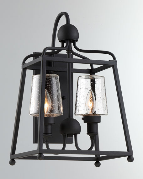 Libby Langdon Sylvan 2-Light Black Forged Outdoor Wall