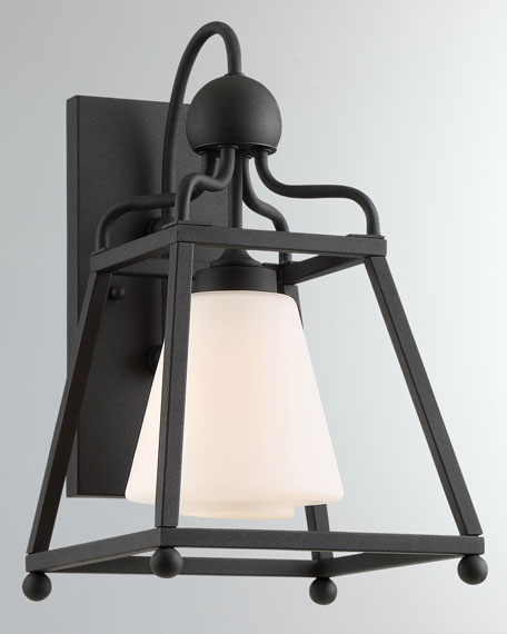 Libby Langdon Sylvan 1-Light Black Forged Outdoor Wall