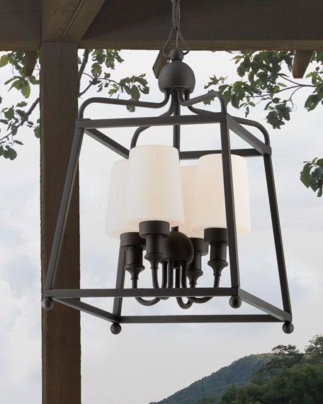 Crystorama Libby Langdon Sylvan 4-Light Black Forged Outdoor Chandelier