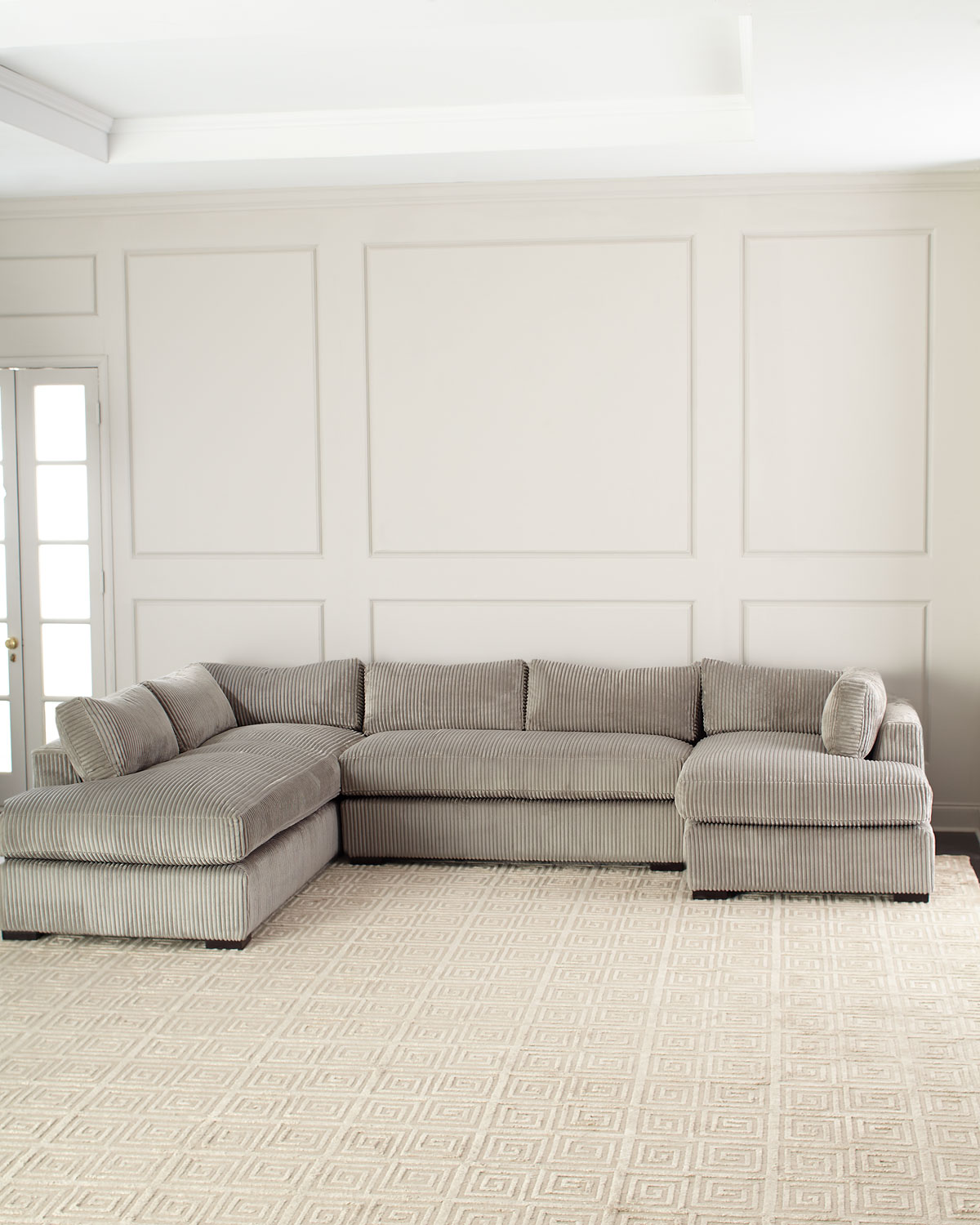 Old Hickory Tannery Mitchell Upholstered Sectional Sofa