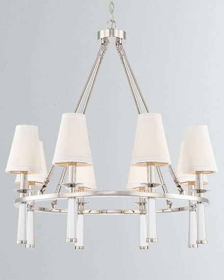 Baxter 8-Light Polished Nickel Chandelier