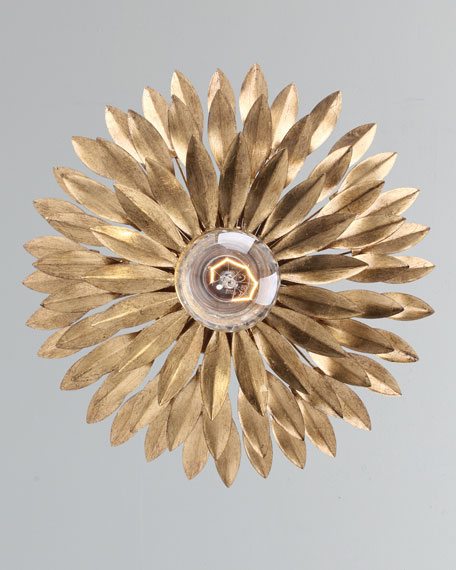 Broche 1-Light Antiqued Gold Sconce