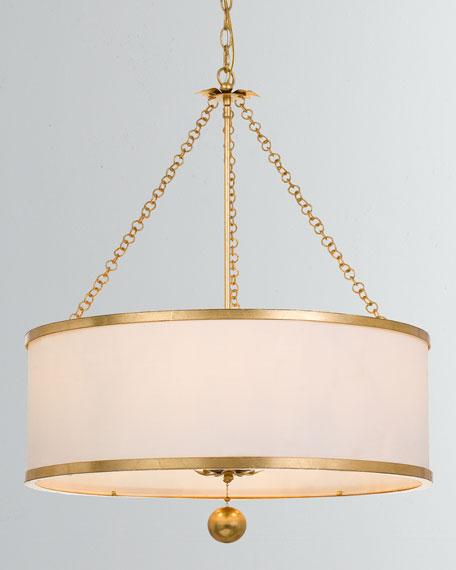 Broche 6-Light Antiqued Gold Chandelier