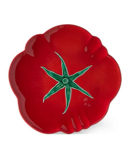 "Bordallo Pinheiro Tomato Pizza Plate, 11.5"""