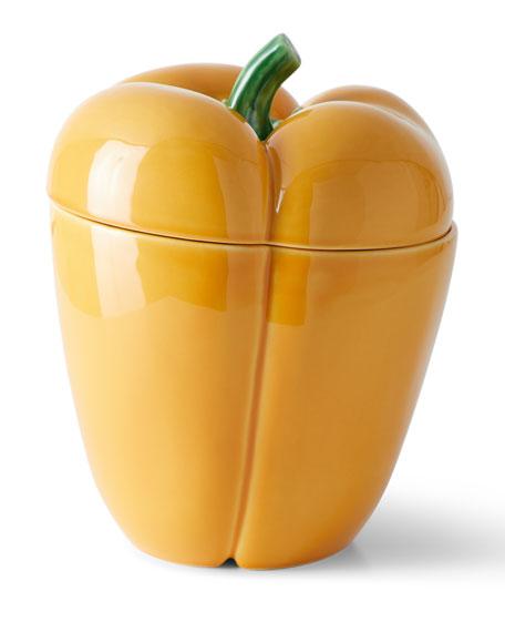 "Bordallo Pinheiro Pimiento Pepper Box, 8.6"""